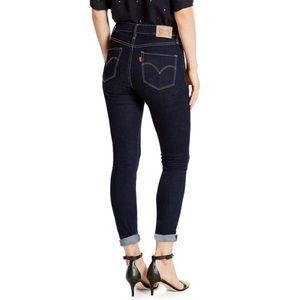 Levi's 721 High Rise Dark Wash Skinny Jeans